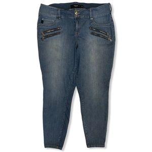 Torrid Zipper Skinny Jeans Jeggings Crop Size 20
